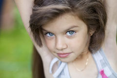 Little girl with beautiful hair Stock Photography