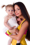 Little girl with beautiful mother Royalty Free Stock Photography