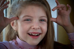 Little girl. Beautiful little girl smiling. Four years old Royalty Free Stock Photos