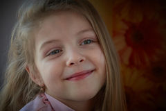 Little girl. Beautiful little girl smiling. Four years old Stock Photo