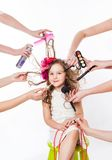 Little girl in a beauty salon Royalty Free Stock Images