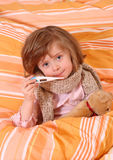 Little girl  in bed Stock Photography