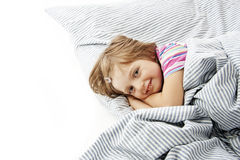 Little girl in the bedroom Royalty Free Stock Photo