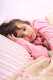 Little girl bedtime Royalty Free Stock Photo