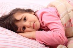 Little girl bedtime Stock Photos