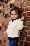 Little girl being a mini-model Stock Images