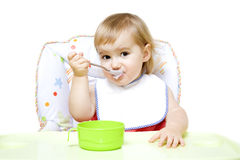 Little girl with bib Stock Photography