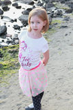 A little girl with big belly Royalty Free Stock Photo