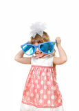 Little Girl With Big Blue Glasses Royalty Free Stock Photography