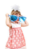 Little Girl with Big Blue Glasses Royalty Free Stock Image