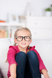Little Girl With Big Glasses Royalty Free Stock Photos