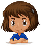 Little girl with big head Royalty Free Stock Photo