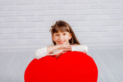 Little girl with a big heart Royalty Free Stock Image