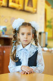 Little girl with big white bows Royalty Free Stock Image