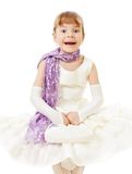 Little girl in billowing gown Royalty Free Stock Images