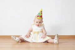 Little girl birthday Royalty Free Stock Image