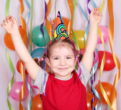 Little girl birthday party Stock Photography