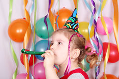 Little girl birthday party Stock Photo