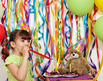 Little girl birthday party Royalty Free Stock Photo