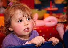Little girl on birthday party Royalty Free Stock Image
