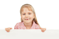 Little girl with blank Stock Photography