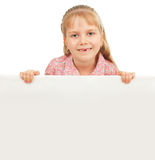 Little girl with blank Royalty Free Stock Photography