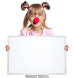 Little girl with blank Stock Images