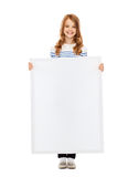Little girl with blank white board Stock Image