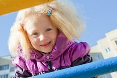 Little girl with blond hair Stock Photography