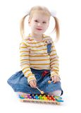 Little girl blonde Stock Photography