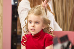 Little girl with blonde hair. Royalty Free Stock Photo