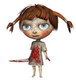 Little girl in a bloodied dress Stock Photography