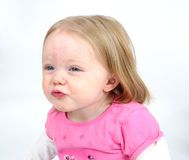 Little girl blowing kiss Royalty Free Stock Photo