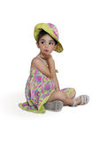 Little Girl Blowing Kisses Royalty Free Stock Image