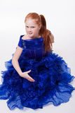 Little girl in blue Ball Gown Stock Photography