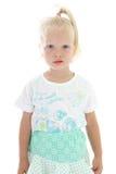 Little girl in blue dress Stock Photo