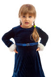 Little girl in blue dress Stock Image
