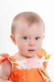 Little girl with blue eyes Royalty Free Stock Photos