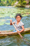 Little Girl in a Boat Royalty Free Stock Images