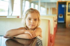 Little girl on boat-trip Stock Photo