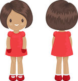 Little girl body template in a dress. Stock Photos