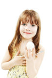 Little girl with boiled egg Royalty Free Stock Image