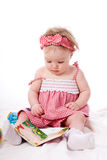 Little girl with book Royalty Free Stock Image