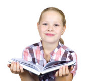 Little girl with book Stock Photo