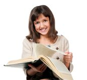 Little girl with a book Royalty Free Stock Images