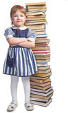 Little girl with book Stock Image