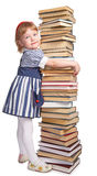Little girl with book Stock Photos