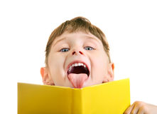 Little Girl with the Book Royalty Free Stock Image