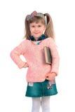 Little girl with a book stock photos