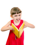 Little Girl with the Book Royalty Free Stock Images